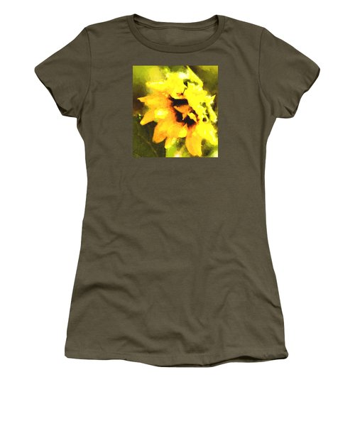 Women's T-Shirt (Junior Cut) featuring the photograph Sunflower by Cathy Donohoue