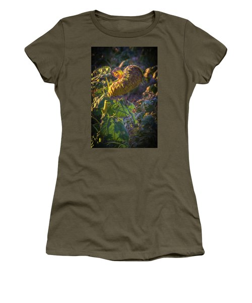 Sunflower Repose Women's T-Shirt (Athletic Fit)