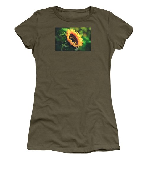 Women's T-Shirt (Junior Cut) featuring the painting Sunflower by Rose-Maries Pictures
