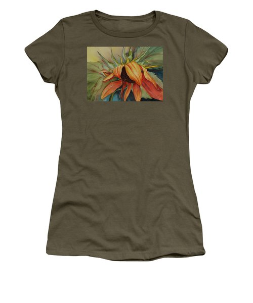 Women's T-Shirt featuring the painting Sunflower by Ruth Kamenev