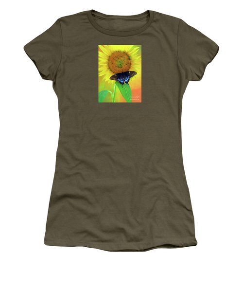 Sunflower With Company Women's T-Shirt (Junior Cut) by Marion Johnson