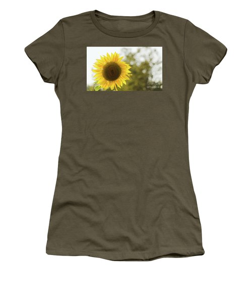 Women's T-Shirt (Athletic Fit) featuring the photograph Sunflowers 12 by Andrea Anderegg