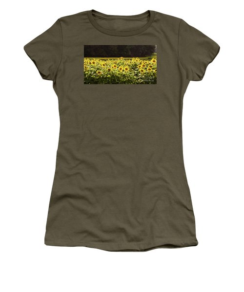 Women's T-Shirt (Athletic Fit) featuring the photograph  Sunflowers 5 by Andrea Anderegg