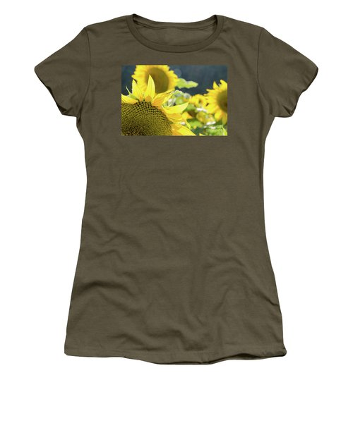 Women's T-Shirt (Athletic Fit) featuring the photograph  Sunflowers 8 by Andrea Anderegg