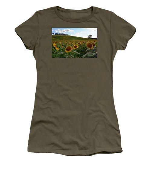 Sunflowers Fields  Women's T-Shirt