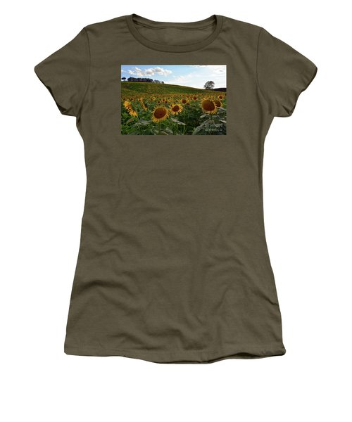 Sunflowers Fields  Women's T-Shirt (Athletic Fit)