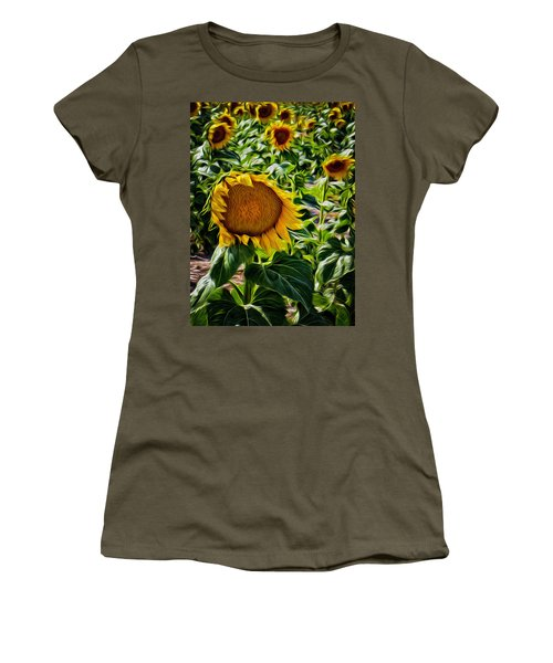 Sunflowers Glaze Women's T-Shirt (Athletic Fit)