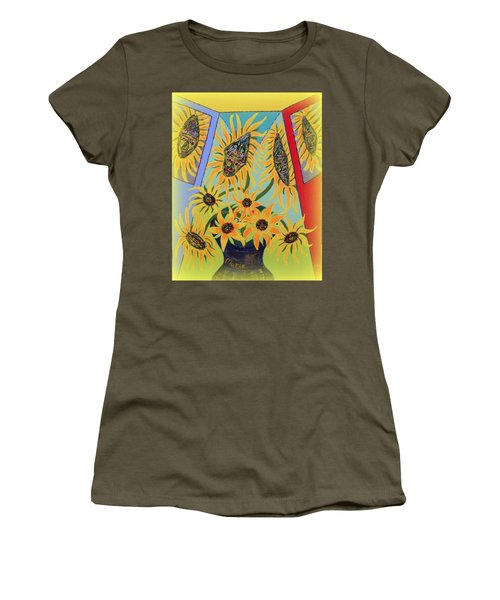 Sunflowers Rhapsody Women's T-Shirt (Athletic Fit)