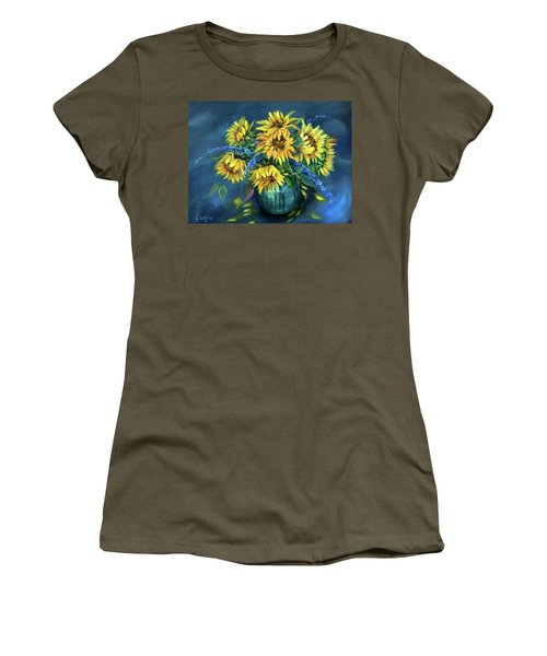 Sunflowers Still Life Women's T-Shirt (Athletic Fit)