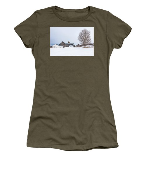 Sunlight On Abandoned Buildings Women's T-Shirt (Athletic Fit)
