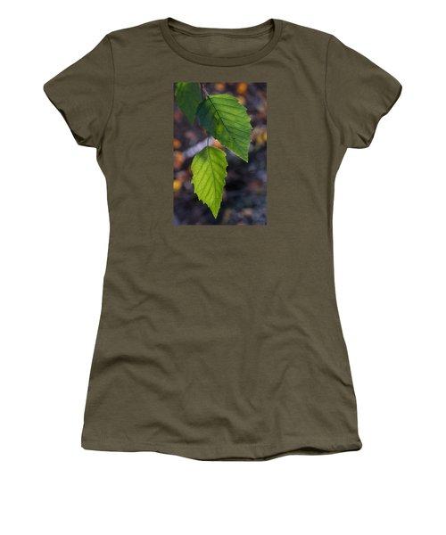 Sunlight Through Birch Leaf Branch Women's T-Shirt (Athletic Fit)