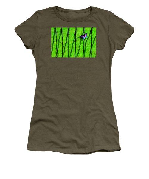 Women's T-Shirt (Junior Cut) featuring the photograph Sunning by Paul Wear
