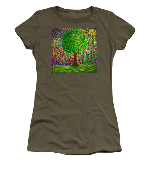 Sunny Tree Women's T-Shirt (Junior Cut) by Kevin Caudill