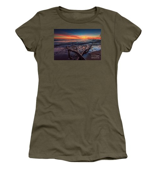 Sunrise Crossing  Women's T-Shirt (Athletic Fit)