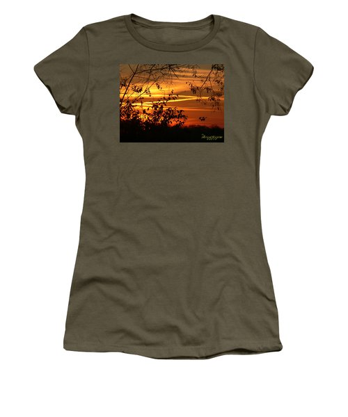 Women's T-Shirt (Junior Cut) featuring the photograph Sunrise In Tennessee by EricaMaxine  Price