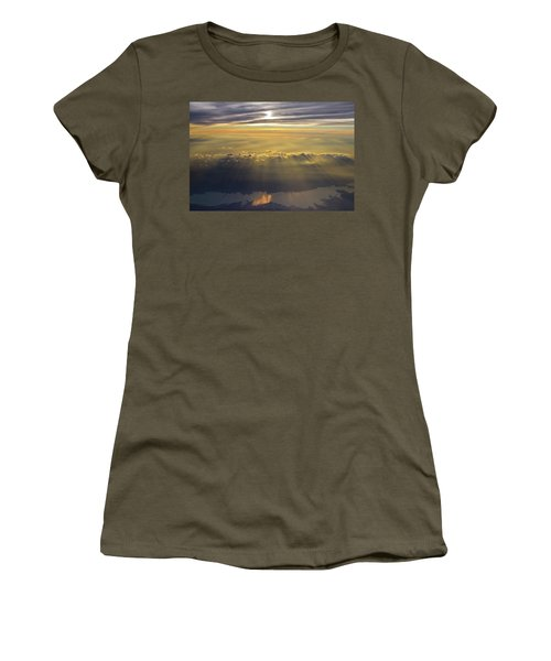 Sunrise From 30,000 Feet Women's T-Shirt (Athletic Fit)