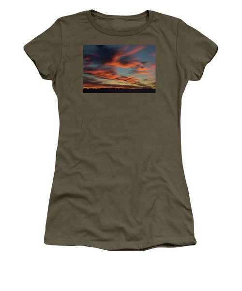Sunrise On Fire Women's T-Shirt (Athletic Fit)