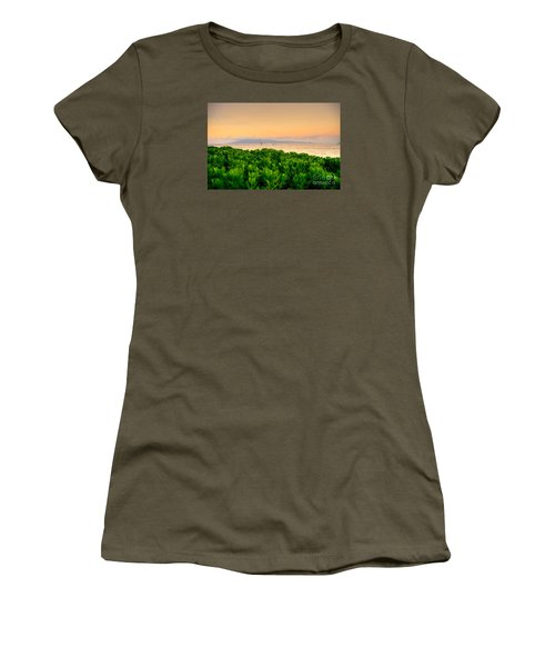 Women's T-Shirt (Junior Cut) featuring the photograph Sunrise On Maui by Kelly Wade