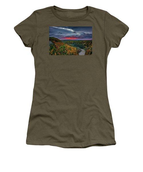 Sunrise Over Genesee River Gorge Women's T-Shirt