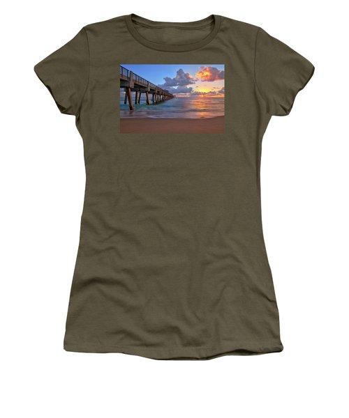 Sunrise Over Juno Beach Pier In Florida Women's T-Shirt