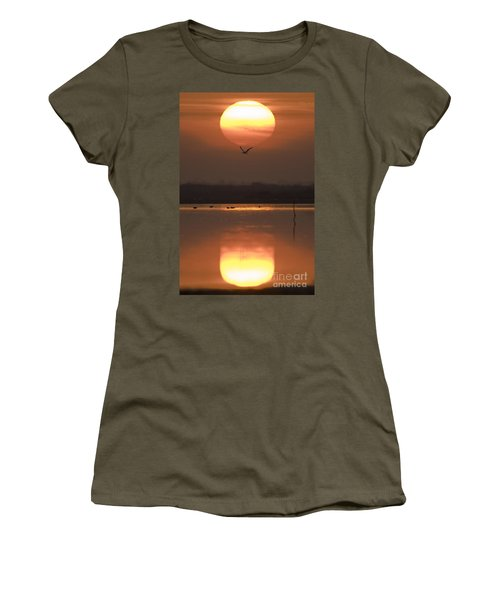 Sunrise Reflection Women's T-Shirt (Athletic Fit)