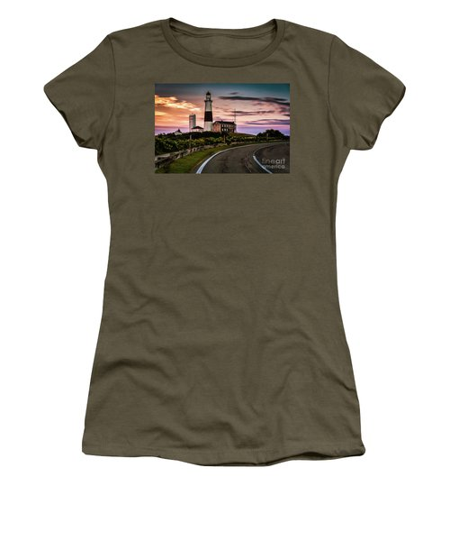 Sunrise Road To The Montauk Lighthous Women's T-Shirt