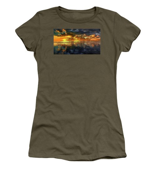 Sunset #95 Or Sunset Over The Atlantic. Women's T-Shirt
