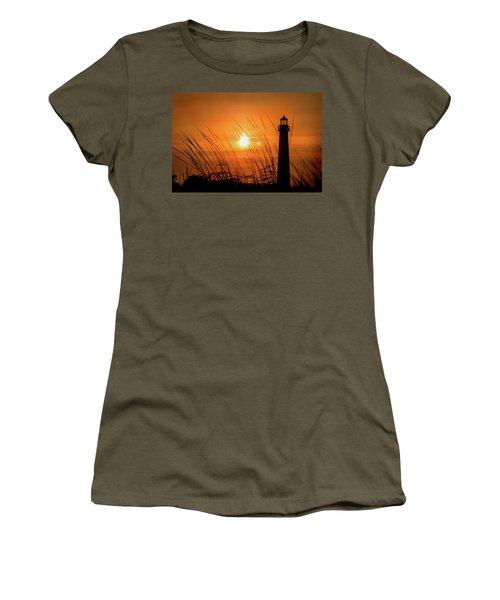 Sunset At Cm Lighthouse Women's T-Shirt
