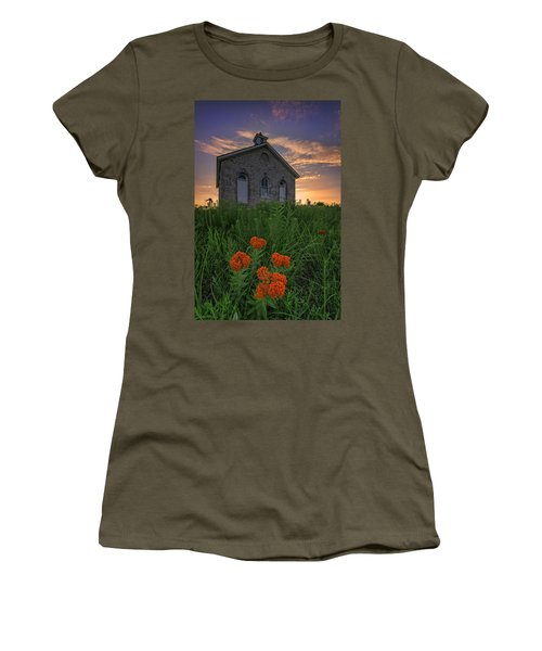 Sunset At Lower Fox Creek Schoolhouse Women's T-Shirt