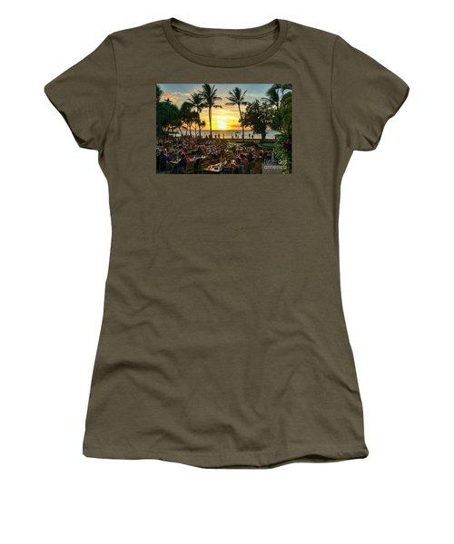 Sunset At Old Lahaina Luau #1 Women's T-Shirt
