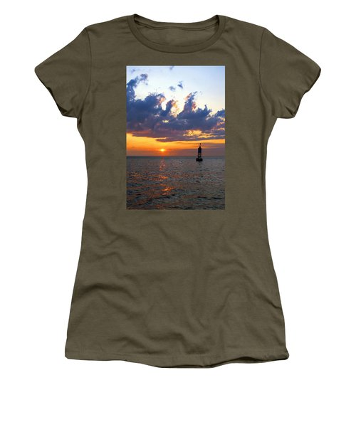 Sunset At The Bell Buoy Women's T-Shirt