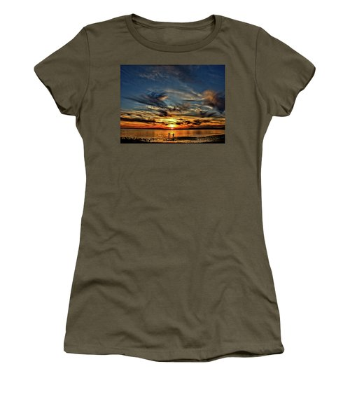 Sunset At The Waters Edge Women's T-Shirt