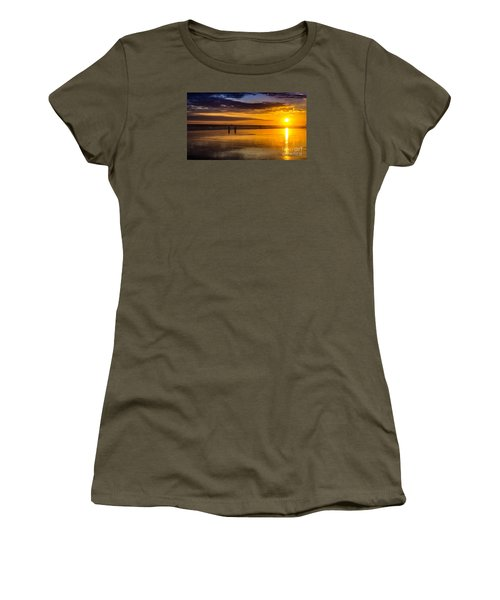Sunset Bike Ride Women's T-Shirt (Athletic Fit)