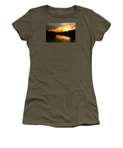 Sunset Bliss Women's T-Shirt (Junior Cut) by Robert Carey