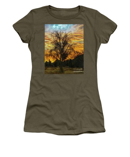 Sunset In Perris Women's T-Shirt (Athletic Fit)