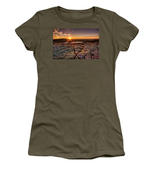 Sunset On Cadillac Mountain Women's T-Shirt