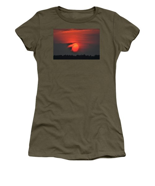 Sunset On Plum Island Women's T-Shirt (Junior Cut) by Nancy Landry