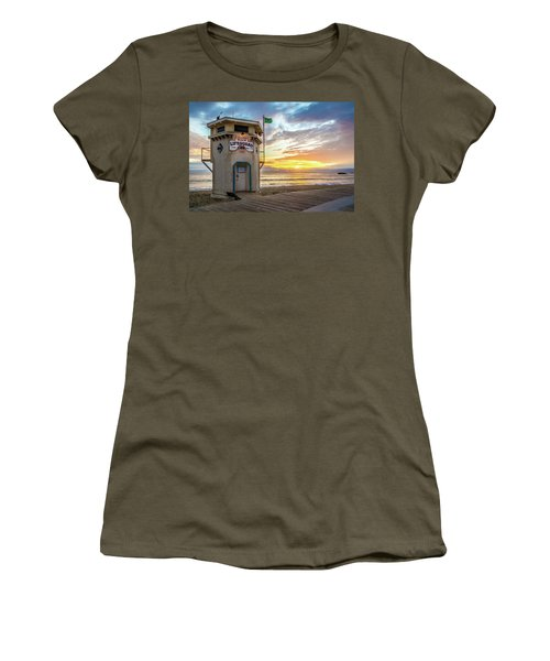 Sunset Over Laguna Beach Lifeguard Station Women's T-Shirt