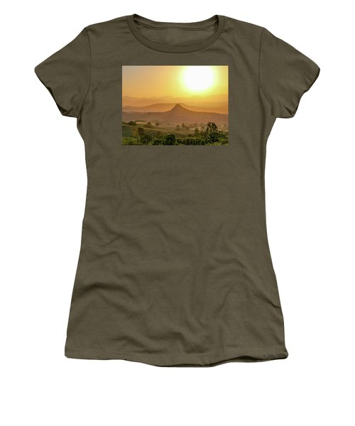 Women's T-Shirt (Athletic Fit) featuring the photograph Sunset Over Mt Sugarloaf by Keiran Lusk