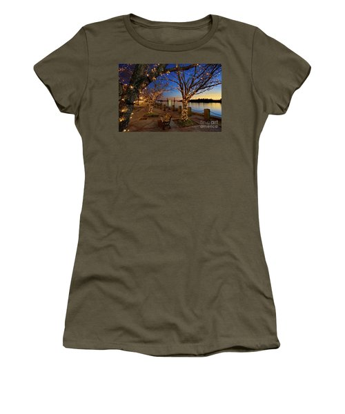 Sunset Over The Wilmington Waterfront In North Carolina, Usa Women's T-Shirt (Junior Cut) by Sam Antonio Photography