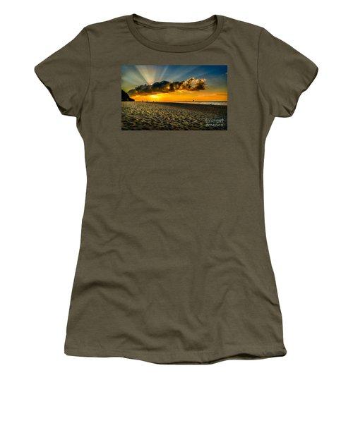 Sunset Puka Beach Women's T-Shirt