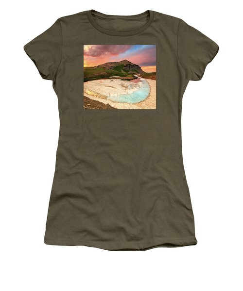 Sunset Reflection At Emerald Lake. Women's T-Shirt (Athletic Fit)