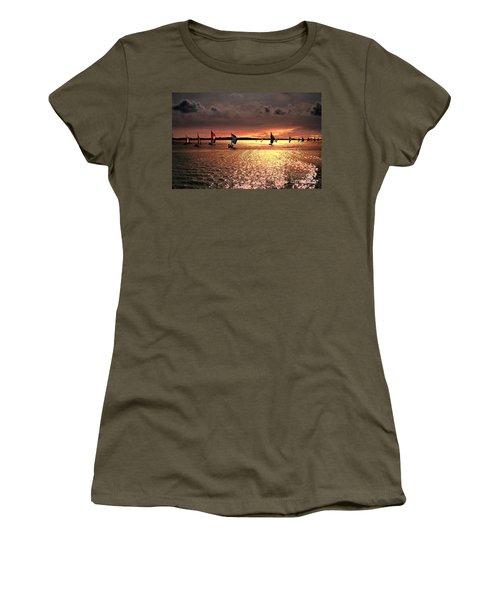 Sunset Sail - Bermuda Women's T-Shirt (Junior Cut) by Judy Palkimas