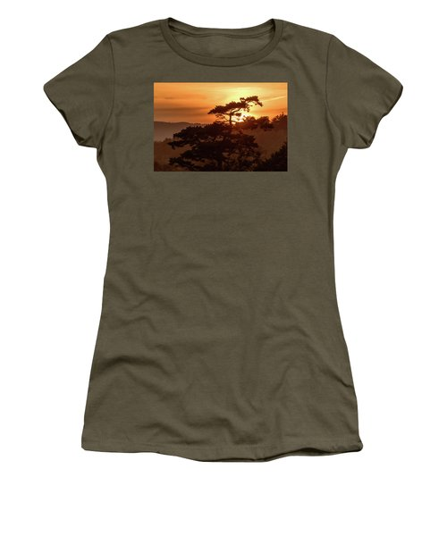 Sunset Silhouette Women's T-Shirt (Junior Cut) by Keith Boone