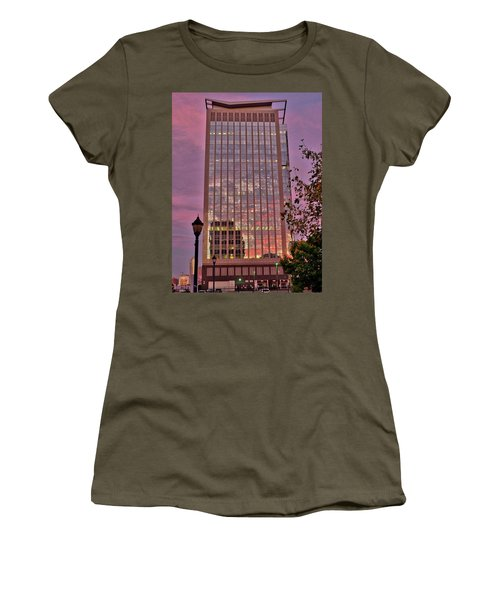 Sunset Skyscraper Women's T-Shirt (Athletic Fit)