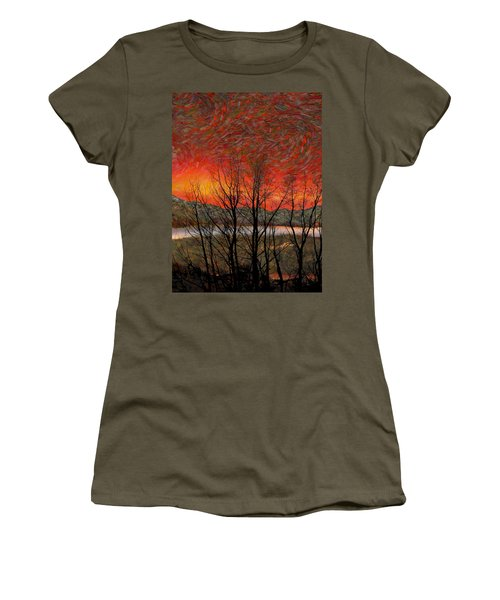 Sunset Soliloquy Women's T-Shirt (Junior Cut) by Ed Hall