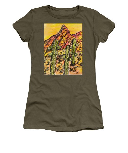 Desert Sunset Sunrise  Women's T-Shirt (Athletic Fit)