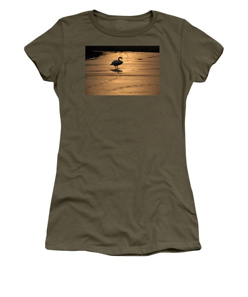 Women's T-Shirt (Junior Cut) featuring the photograph Sunset Swan by Richard Bryce and Family