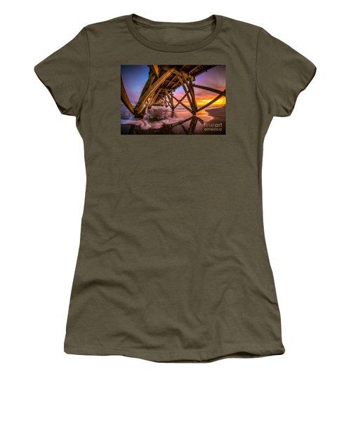 Sunset Under The Pier Women's T-Shirt (Athletic Fit)