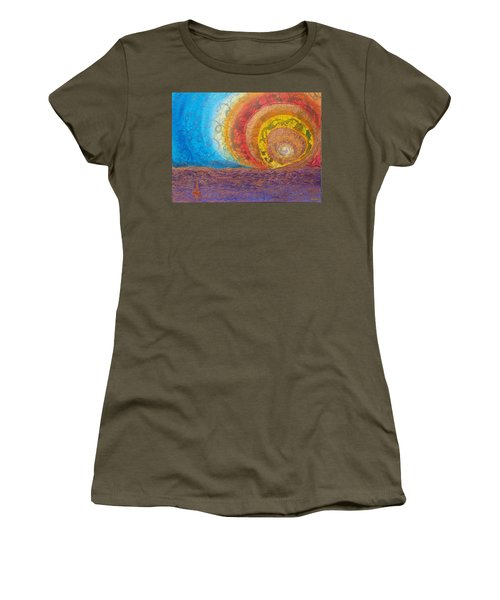 Sunset Unfurls Over Purple Sea Women's T-Shirt